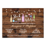 Rustic Stock The Bar & Kitchen Engagement Couples Invitation