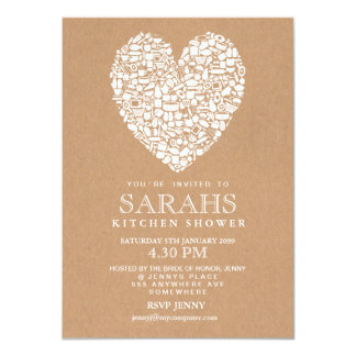 Rustic Stock the Kitchen Bridal Shower Party 4.5x6.25 Paper Invitation Card
