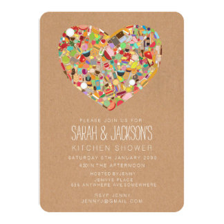 Rustic Stock the Kitchen / Tea Bridal Shower Party Card