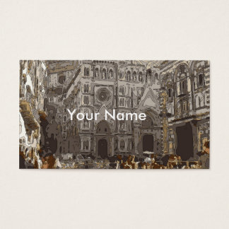 Rustic Stone Buildings and Church in Paris Business Card