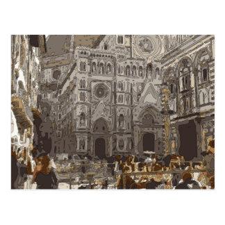 Rustic Stone Buildings and Church in Paris Postcard