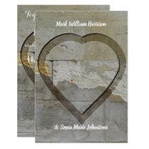 Rustic Stone Venue wedding invitation