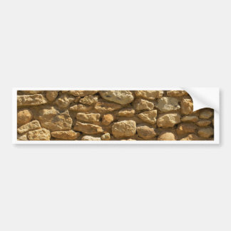 Rustic Stone Wall Bumper Stickers