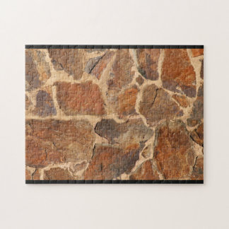 Rustic Stone Wall Structure Geology Challenge Jigsaw Puzzle