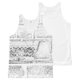 Rustic stones All-Over print tank top