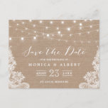 """Rustic String Lights Burlap Lace 
