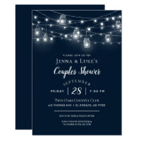 Rustic String Lights Couples Shower Invitation
