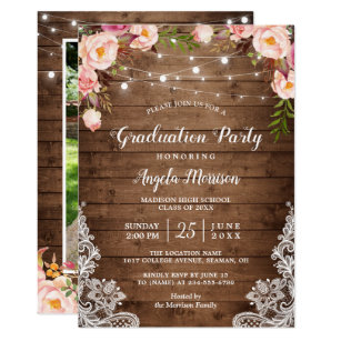 country graduation invitations zazzle