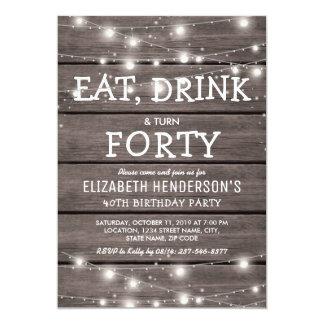 40th Birthday Invitations & Announcements | Zazzle