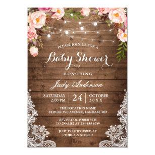 Rustic Baby Shower Invitations Announcements Zazzle