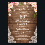 "Rustic String Lights Lace Floral Birthday Party Invitation<br><div class=""desc"">Rustic String Lights Lace Floral Birthday Party Invitation. (1) For further customization, please click the ""customize further"" link and use our design tool to modify this template. (2) If you prefer Thicker papers / Matte Finish, you may consider to choose the Matte Paper Type. (3) If you need help or...</div>"