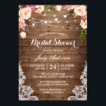 "Rustic String Lights Lace Floral Bridal Shower Invitation<br><div class=""desc"">Rustic Country Style have become more and more popular. Celebrate the bride-to-be with this &quot;Rustic String Lights Lace Floral Bridal Shower Invitation&quot; that match her style. Get started on your unique creation today! (1) For further customization, please click the &quot;customize further&quot; link and use our design tool to modify this...</div>"