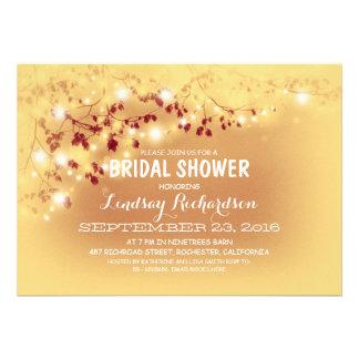 Rustic String Lights Romantic Bridal Shower Cards