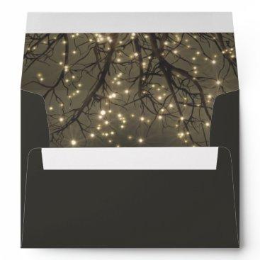 rusticweddings Rustic String Lights Tree Branch Country Wedding Envelope
