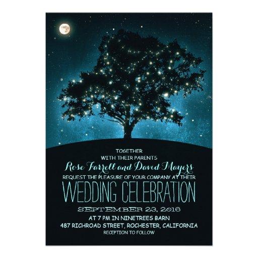 String Lights Tree Rustic Wedding Invitation : Rustic String Lights Tree Wedding Invitation 5