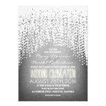 rustic string lights wedding invitations