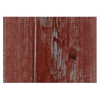 Rustic Style Country Red Painted Barn Wood Cutting Board