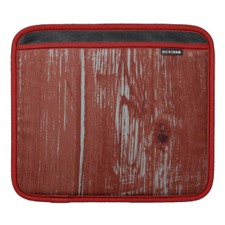 Rustic Style Country Red Painted Barn Wood Sleeve For iPads