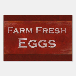 Rustic Style Fresh Eggs Sign