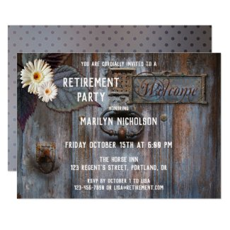 Rustic Stylish Retirement Party Invitation