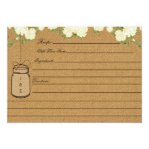 Rustic Subtle Burlap bridal shower recipe cards