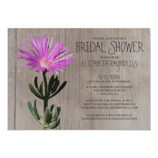 Rustic Succulent Plant Bridal Shower Invitations