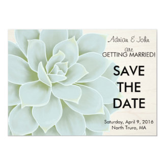 Rustic Succulent Save the Date Card