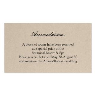 Rustic Succulent Wedding Accomodations Card