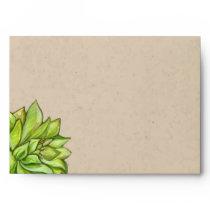 Rustic Succulent Wedding Envelopes