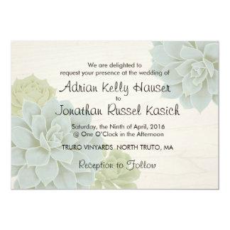 Rustic Succulent Wedding Invitation