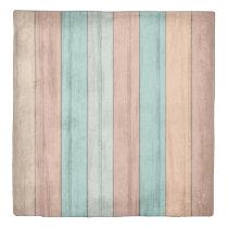 Rustic Summer Beach Wood Stripe Pattern Duvet Cover
