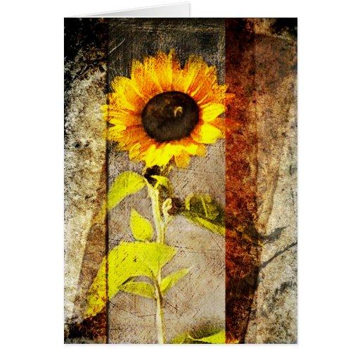 Rustic Sun Flower greeting card