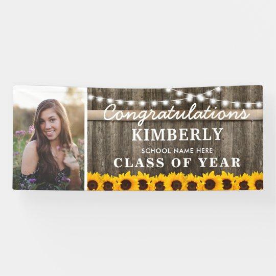 Rustic Sunflower 2021 Graduation Photo Banner