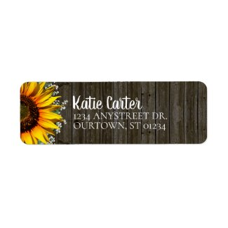 Rustic Sunflower Address Label