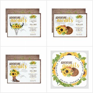 Rustic Sunflower Adventure Awaits Bridal Shower