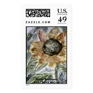 Rustic Sunflower Art by Derek McCrea Stamps