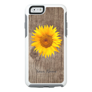 Rustic Sunflower Barn Wood with Name Vintage OtterBox iPhone 6/6s Case