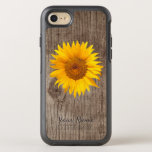 "Rustic Sunflower Barn Wood with Name Vintage OtterBox Symmetry iPhone 8/7 Case<br><div class=""desc"">Rustic Sunflower Barn Wood with Name Vintage iPhone 6/6S case.</div>"
