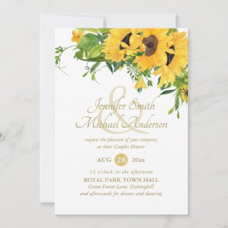 Rustic Sunflower Bridal Shower Ampersand Couples