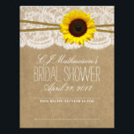 "Rustic Sunflower Bridal Shower Recipe Dividers Letterhead<br><div class=""desc"">These rustic sunflower bridal shower recipe card dividers are perfect to add to the matching recipe card binder. This is a great way to organize your recipes into sections such as; appetizers,  meats,  deserts,  etc.</div>"