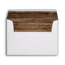 Rustic Sunflower Country Mason Jar Floral Barnyard Envelope