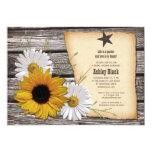 Rustic Sunflower Daisy Bridal Shower Invitation