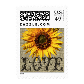 Rustic Sunflower Love Stamp