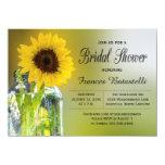 Rustic Sunflower Mason Jar Bridal Shower Wedding Card at Zazzle