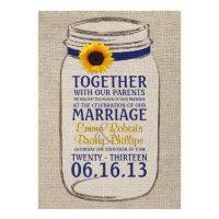 Rustic Sunflower &amp; Mason Jar Wedding Invitation (<em>$2.80</em>)