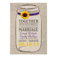 Rustic Sunflower &amp; Mason Jar Wedding Invitation 5&quot; X 7&quot; Invitation Card (<em>$2.80</em>)