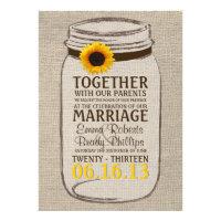 Rustic Sunflower &amp; Mason Jar Wedding Invitation (<em>$2.00</em>)
