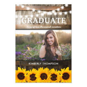 rustic graduation invitations zazzle