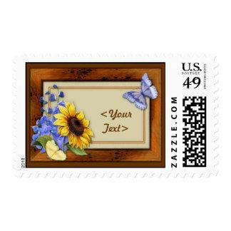 Rustic Sunflower Postage