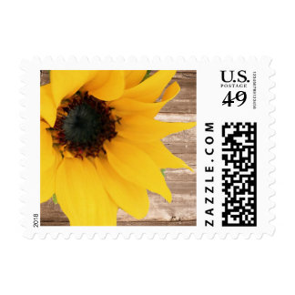 Rustic Sunflower Stamp